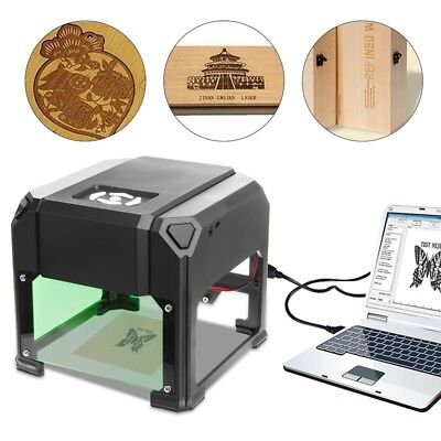 2000 mW USB Desktop Laser Engraver Machine 80x80mm Engraving Range DIY Logo