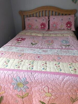 Pottery Barn Kids 3 Pc Pink Daisy, Daisy Garden Quilted Bedding Pottery Barn