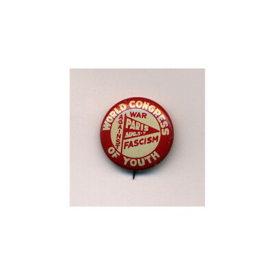 Rare Vintage CPUSA US Communist Youth Pin Anti-War Communist Front 1940