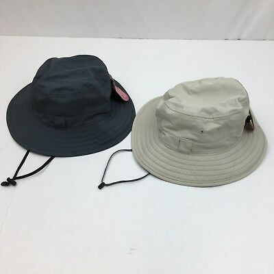 NEW Solar Escape Mens Hat UV Black Explorer Bucket UPF 50+ Wide Brim  Adjustable 5e9c2addf2a8