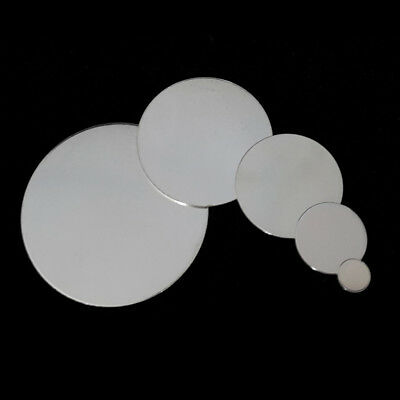 925 Sterling Silver Round Stamping Blank Disc 20 Gauge 12.7-50.8mm