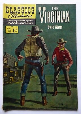 Classics Illustrated No. 70  The Virginian - Owen Wister