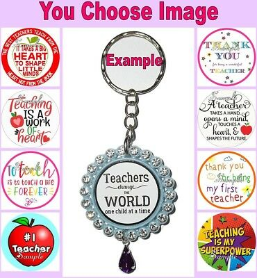 TEACHER Keyring Keychain Key Ring Chain Thank You End Of Year Present Gift #1