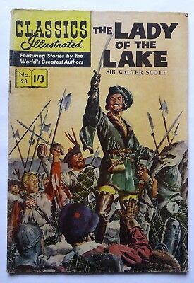 Classics Illustrated  No. 28  The Lady of The Lake  by Sir Walter Scott