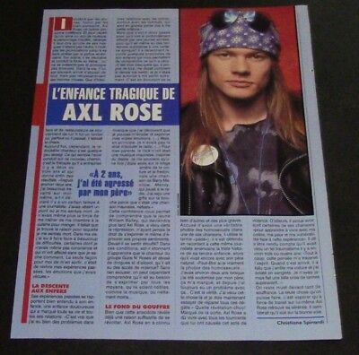 Rare! Axl Rose Clippings Article 1993 Guns N' Roses Hard to Fine