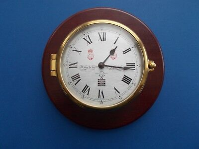 A Sewills of Liverpool Ships Bell Brass cased Clock Made in England (8 Bells)