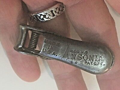 Antique 1905 Nail Clippers by ANSONIA USA archaic Torture device
