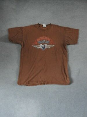 Morrissey T-Shirt Brown Quarry Print (Faded) Size L Worn