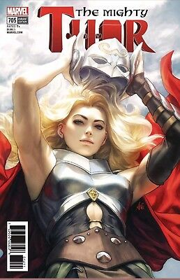 MIGHTY THOR #705 Stanley Artgerm Lau Variant Comic NM 2018