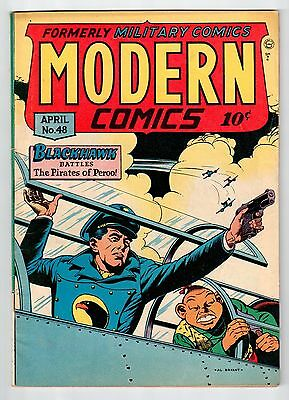 Quality MODERN COMICS #48 April 1946 vintage military comic VG/FN condition