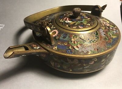 Outstanding Antique Chinese Cloisonné Tea Pot