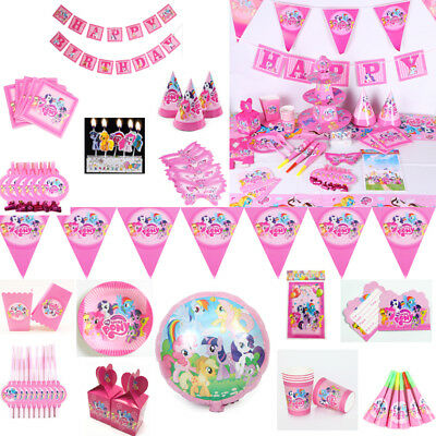 My Little Pony Girls Birthday Party Supplies Favor Tableware Decor Banner Plates