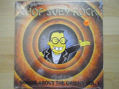 """CHOP SUEY ROCK - SONGS ABOUT THE ORIENT VOL.1 - V.A. - red 12"""" Vinyl LP"""