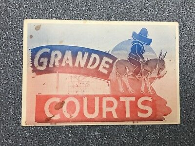 Vintage 1930's Grande Courts On East Highway 66 Tucumcari, New Mexico Route 66