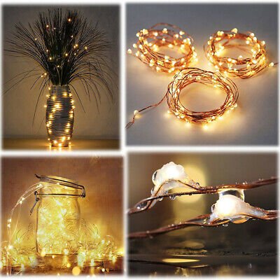 3/5M Firefly Micro Rice LED String Battery Operated Copper Wire Fairy Lights