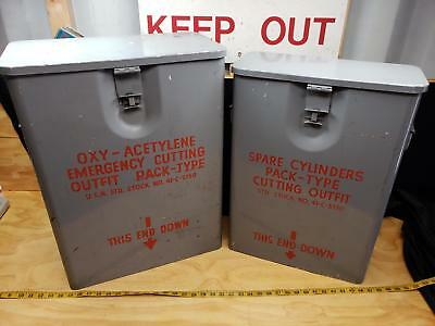 Vintage WWII US Navy Emergency Cutting Outfit Pack-Type 41-C-3350 Oxy-Acet Torch