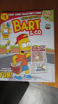 Issue No. 1 Bart & Co. -  Simpsons Comics - 2013 - excellent condition - British