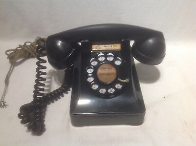 Vintage Bell System Western Electric Company Rotary Desk Telephone F1 302-1940'S