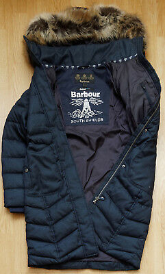 BARBOUR Women's Foreland Quilted Fibre Down JACKET Coat US-8 UK-12
