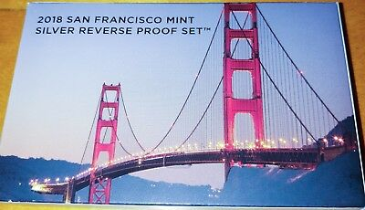 2018 San Francisco Mint Silver Reverse Proof Set Sold out US Mint