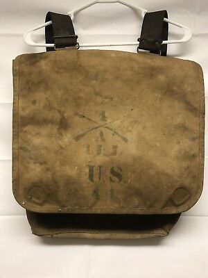 """US Army Spanish American War Haversack  """"Rough Riders """"44th ILL. Infantry"""