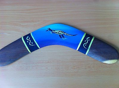 Genuine Authentic Australian Aboriginal Handmade & Painted Boomerang.great Gift!