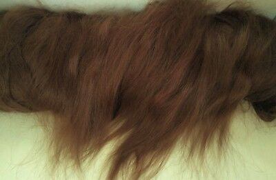 30g (approx 1oz) MOHAIR - FINE MEDIUM BROWN MOHAIR