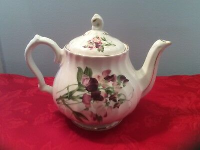 Beautiful Floral Royal Patrician Teapot Made in England