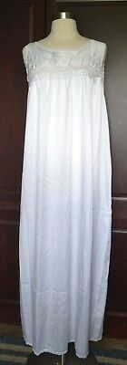 Vintage 80's White Full Length Nightgown By Juli Of Slumbertogs Size 1X