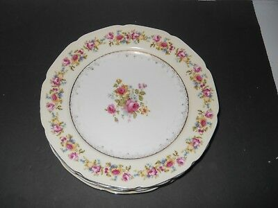 "Gold Castle China ""Hostess Pattern"" Plates"
