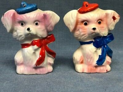 Vintage Pair of Salt and Pepper Shakers- Puppies