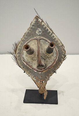 Papua New Guinea Mask Woven Talipun Crown Boiken Tribe Currency Mask
