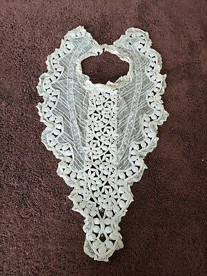 Vintage Edwardian Victorian Lace Collar with Bodice Insert