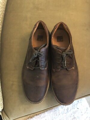 Good Men's Shoes Size 11 M Brown Distressed Leather Lace Up Johnston & Murphy