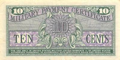 USA / MPC 10  Cents  ND.1964  M51  Series  611 Plate # 30  Circulated Banknote