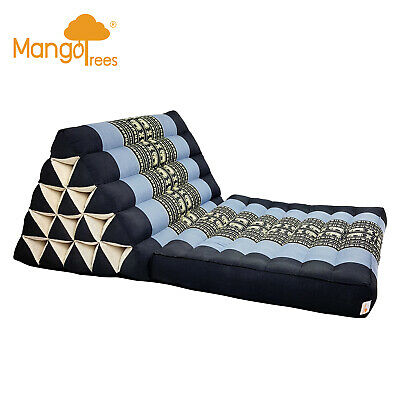 Thai Triangle Pillow Fold Out Mattress Cushion Day Bed 1FOLD Jumbo Size BlueEle