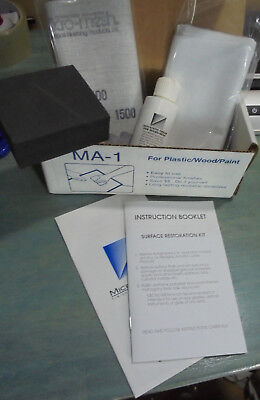 Micro-Mesh, MA-1, Acrylic Restoral Kit, restore up to 100 square feet of Acrylic