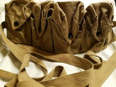WW1 canvas ammo belt with 5 pouches