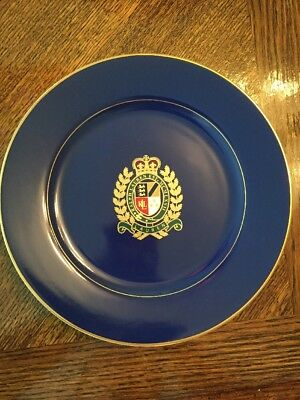 "Ralph Lauren Estate Crest Navy Blue Luncheon Plate 9"". Multiple Available."