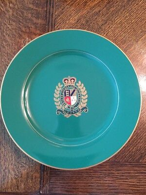 "Ralph Lauren Estate Crest Kelly Green Luncheon Plate 9"". Multiple Available."