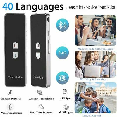 Pocket Bluetooth Smart Real Time T8 40 Language Voice Translator Travel Meeting