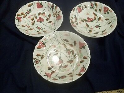 Blue Ridge Pottery BRIAR PATCH    Fruit Dessert  Sauce  Bowl Set ( 3 )