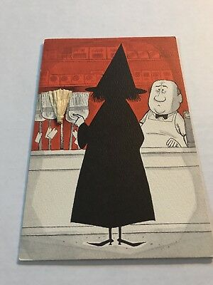 Halloween Vintage Witch Buying Broom Greeting Card Hallmark New