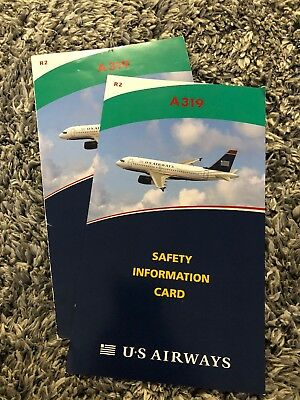 Us Airways Airbus A319 Safety Card Lot
