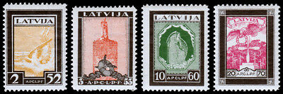 Latvia Scott CB14-CB17 (1933) Mint VLH VF Complete Set, CV C