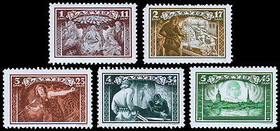 Latvia Scott B82-86 (1932) Mint NH VF Complete Set
