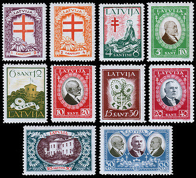 Latvia Scott B56-65 (1930) Mint NH VF Complete Set