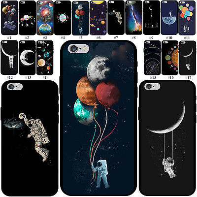 Planet Pattern Soft TPU Case Rubber Cover For Apple iPhone 5 6s 7 8 SE XS Mas XR