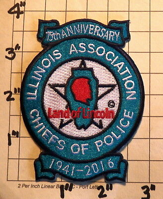 ILLINOIS Association of Chiefs of Police 75th Anniversary Patch     ***NEW***