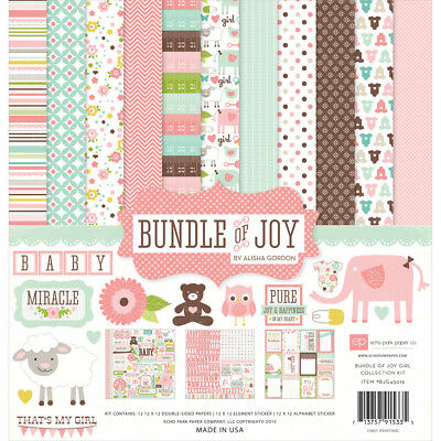 "Echo Park 'BUNDLE OF JOY - GIRL PACK' 12x12"" Paper Pk + Stickers Baby"